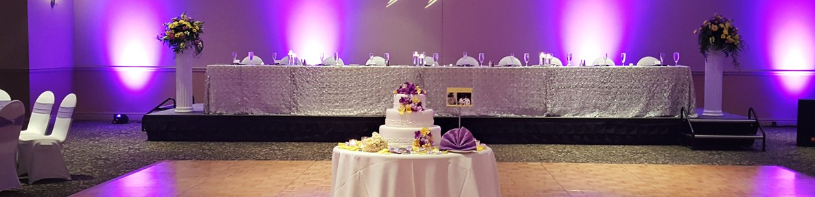 Image of reception setting at St. Charles Convention Center