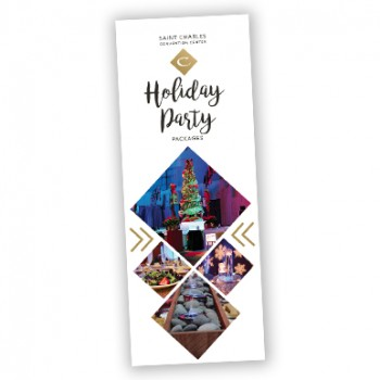 Image of the front of the Holiday Party Promo Brochure.